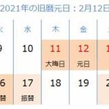 『2021年旧正月に向け繁忙期をむかえます。』の画像