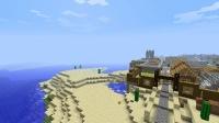 NPC村付近に灯台を作る