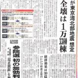 『東京湾北部地震の被害想定発表 川口・草加・戸田・さいたま市などの南部地域に被害見込み』の画像