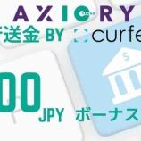 『AXIORY(アキシオリー)が、VISAカードによる入金とCurfex入金キャンペーンを実施!』の画像