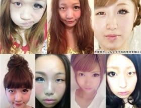 【衝撃画像】女の子の『半顔メイク』がヤバすぎる件