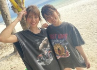 【美人百花】清水麻璃亜が山下エミリーとボラカイ島からSR配信!