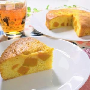 ハロウィンにいいかも♪蜜漬けカボチャの蜜ケーキ