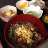 『今日の太田昼食(豚ニラ炒め丼)』の画像