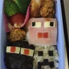『息子の弁当 つくりました。マイクラキャラ弁です。』の画像