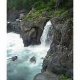 『城ケ崎海岸と対島滝』の画像