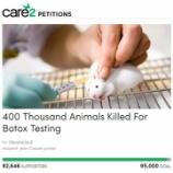 『ボトックス注射によって殺される命たち』の画像