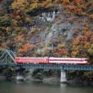 只見線 なつかしの列車(215)第8只見川橋梁の国鉄色