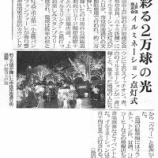 『彩る2万球の光 上戸田商店会イルミネーション点灯式(埼玉新聞)』の画像