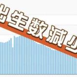 『【悲報】少子化がいよいよヤバイ!出生数が順調に減り続けて30年前から2分の1以下に!安倍総理「国難とも言える状況」』の画像
