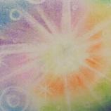 『アートセラピー日記(カラーカード)辛くても前を向いて受け止めようとしている姿は、とても綺麗なアートを生みました』の画像