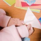 『折り紙でたくさんおってクレープ作ってました!』の画像