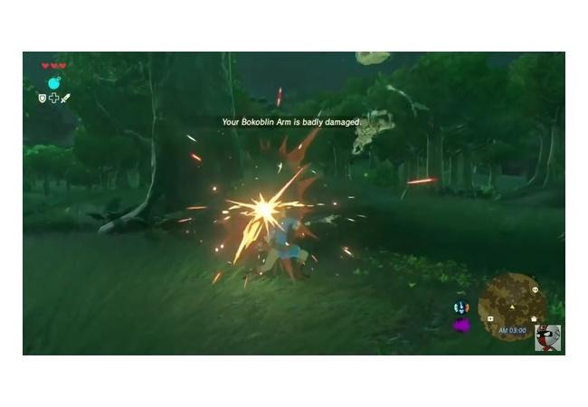 【ゼルダの伝説 ブレスオブザワイルド】ダメージで武器が壊れる仕様、壊れた時はクリティカル発生