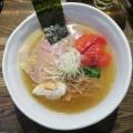 RAMEN CIQUE@阿佐ヶ谷 「塩ラーメン+焼きトマト、醤油ラーメン+白味玉、ほか」