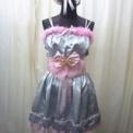アイドルちゃんステージ衣装◆シルバー×ピンク+蝶々