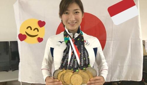 池江璃花子のアジア大会6冠達成に世界から祝福!メダル8個を首にかけた写真も話題に(海外の反応)