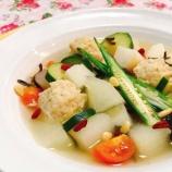 『暑い時に温度が冷たい食べものではなく、「冷やす作用」のある食べものを』の画像