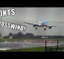 B-757が横向きに着陸。お前らが思ってるより横向きで着陸。