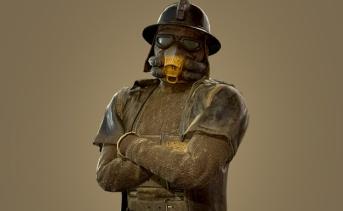 ガラハン従業員の衣装とヘルメット