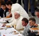 【ローマ法王】貧困者やホームレス1500人招き昼食会「競争に躍起で何でも今すぐ達成したがる風潮」貧困への無関心を非難