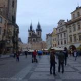 『チェコ旅行記22 夜のプラハ旧市街を散歩、火薬塔からの眺めは普通』の画像