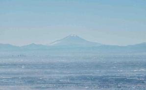 筑波山の山頂から望む関東平野