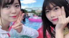 【AKB48】千葉恵里と西川怜のプール画像きたあああああ