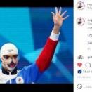 ◆悲報◆ロシアの競泳選手、表彰式で猫柄マスク認められず
