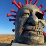【動画】米国、LAに設置された「習近平中共ウイルス像」何者かに放火され全焼!