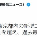 【新型コロナ】東京+3000超