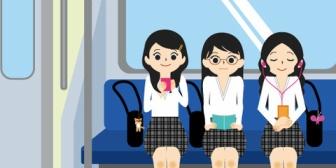某女芸人に顔も体形も似ている私は街中でもクスクス笑われたりしていた。友達と電車に乗っているとヒソヒソチラチラする高校生が…