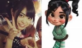 【映画論】  日本で AKB48前田亜美と ディズニーの「シュガー・ラッシュ」の主人公の女の子が 似ていると話題に。   海外の反応