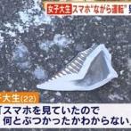 女子大生「スマホみてたので何とぶつかったかわからない」 男性を20mはね、そのまま走り去る。放置された男性窒息死