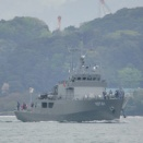 水中処分母船「YDT-01」舞鶴湾往路 2021/4/14