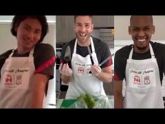 【動画】南野拓実も参戦!リバプールの選手たちが料理対決www