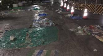 日本凄い!隅田川花火大会ゴミだらけ!外国人も羨む日本人の清潔好き