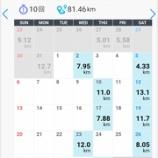 『8月の月間走行距離81.46km。年間走行距離887.76㎞。』の画像