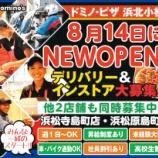 『【開店】ピザ不毛地帯の浜北民に朗報!プレ葉近くにドミノピザができるぞー!8月14日(月)オープン - 浜北区小松』の画像