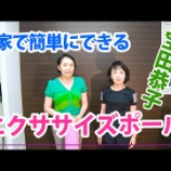 『お家でエクササイズ! 宝田恭子のYouTube動画更新しました!』の画像