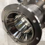 『粉体プラントに使われる内筒付きベローズ伸縮管』の画像