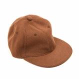 『【新入荷】YARMO MELTON LOGO CAP ブラウン』の画像