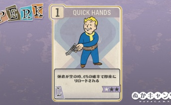 Fallout 76:Quick Hands(Luck)