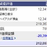 『週末(6月17日)の保有資産。2億1209万7440円』の画像