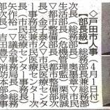 『戸田市人事が新聞掲載されました』の画像