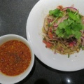 Japanese Soba Noodles 蔦@代々木上原 「UehaLaksa熱盛つけSoba、つゆなしSoba(地鶏)」