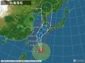 【悲報】台風9号さん とんでもない軌道を描いてしまう(画像あり)