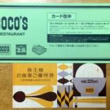 『6月に届いたココスの株主優待!なか卯でお食事!【株主優待・クーポン】』の画像