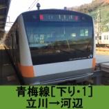 『青梅線 車窓[下り・1]立川→河辺』の画像