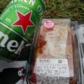 横浜のファンゾーンでラグビーを見た!食べ物の持ち込みはできないけど混雑なしでハイネケン美味しい!ボランティア多数。