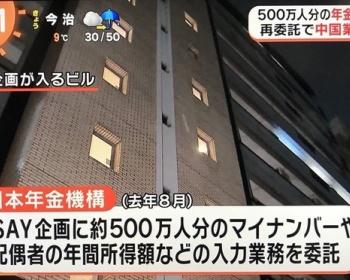 日本年金機構の委託先のSAY企画と再委託先の中国業者の関係を社長・切田精一が説明